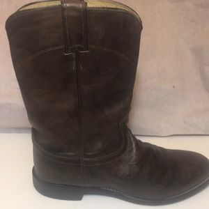 Justin Men's Brown Leather Western Boots sz 8.5